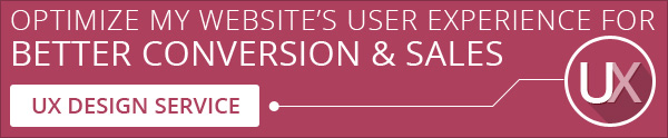 User experience website design service