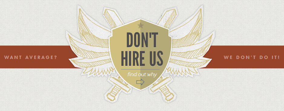 don't hire us