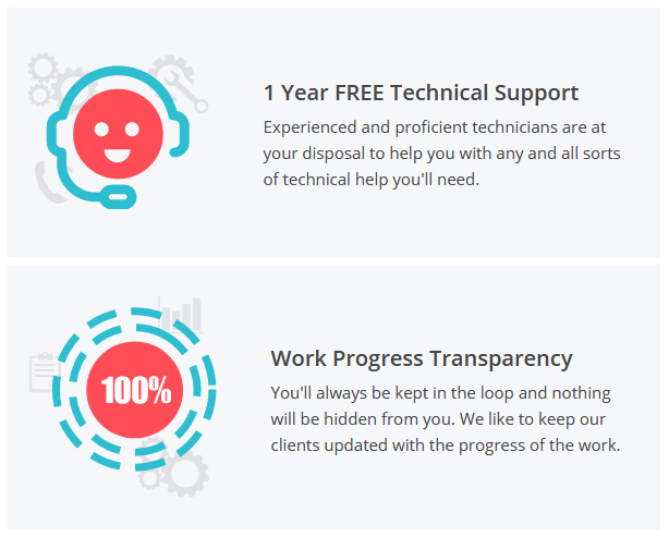 Web solutions company free support