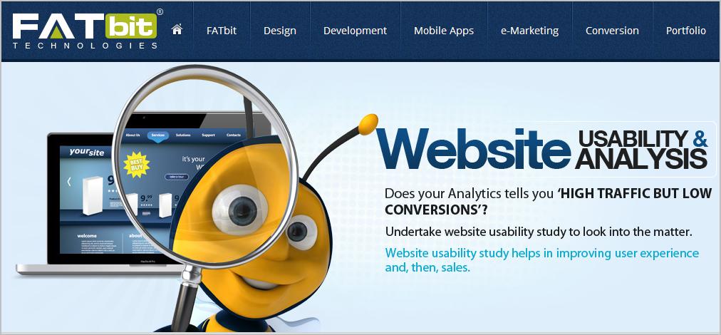 fatbit webste usability
