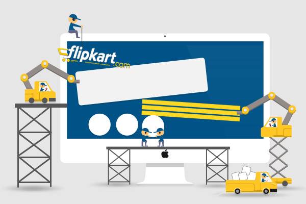 Who designed and created Flipkart brand?