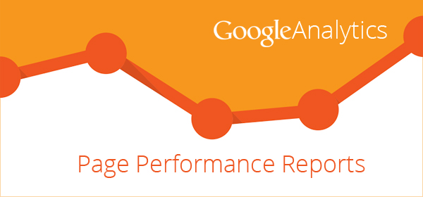 page performance reports google analytics