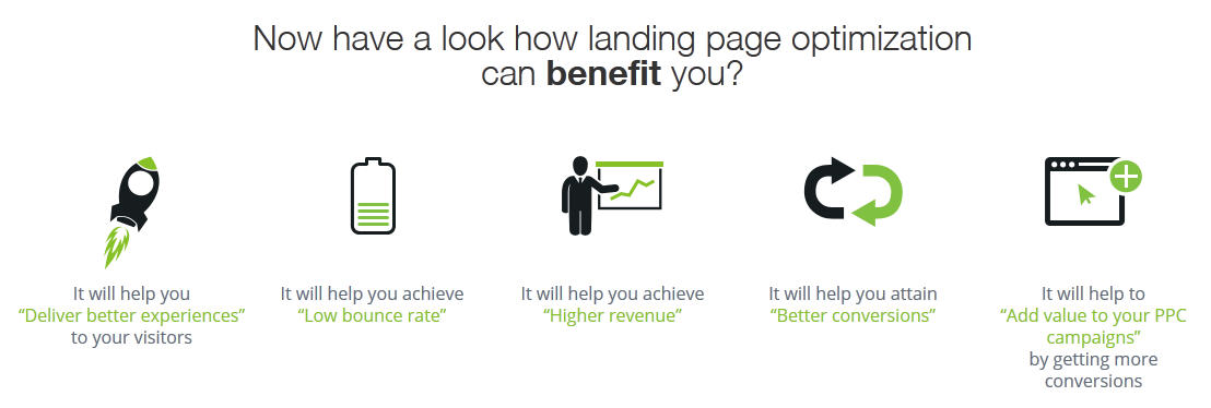 benefit of good landing pages