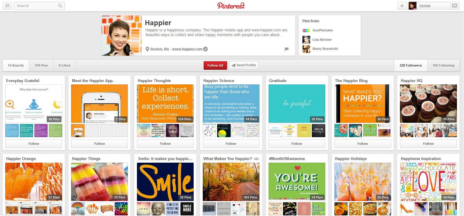 pinterest marketing of mobile app