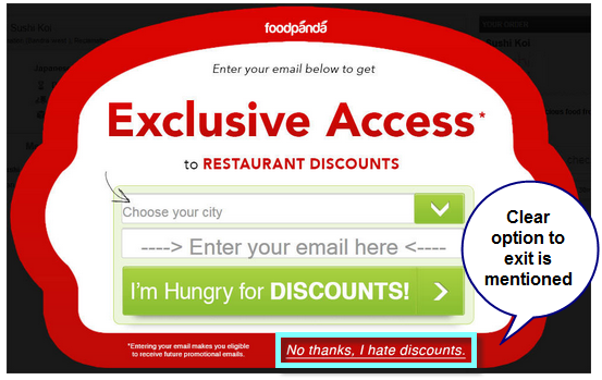 Effective use of Popups