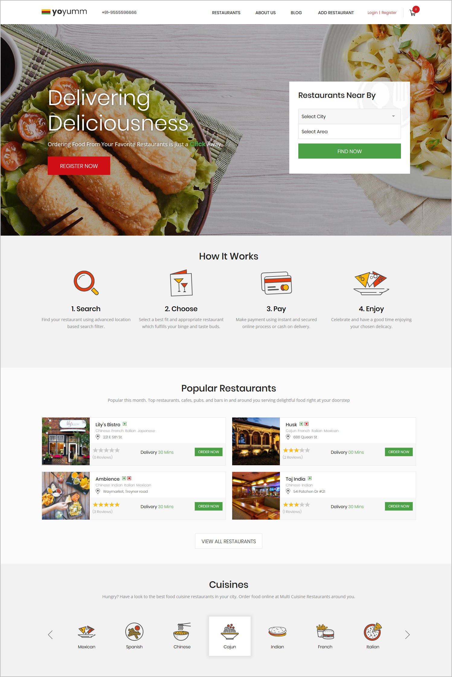 Features to make your online food ordering and delivery website yoyumm food ordering system forumfinder Gallery