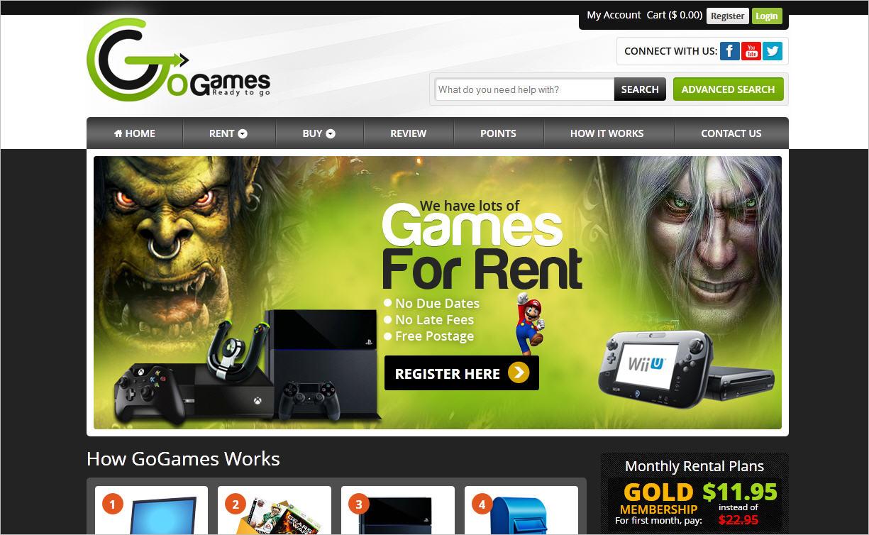 online-game-rent-buy-service-website