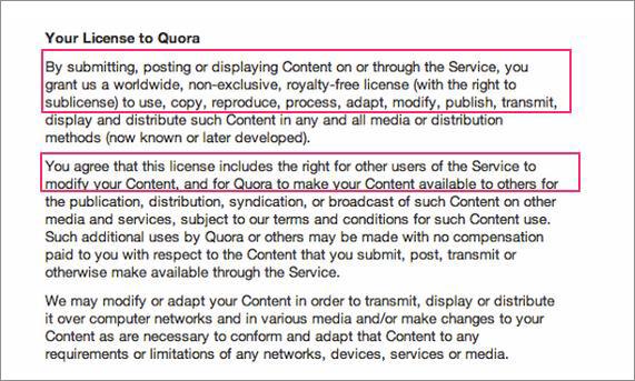 Quora_licence