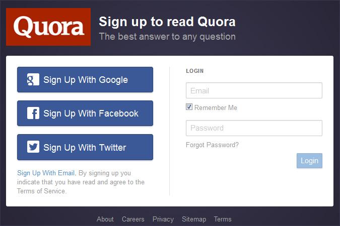 Quora_login_screen