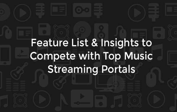 music streaming portal features