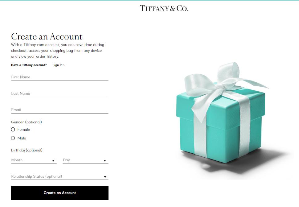 Tiffany Sign Up