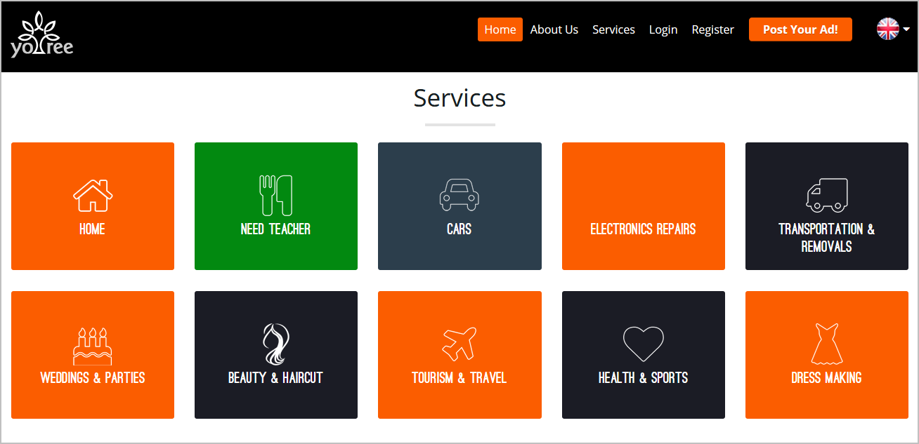 Classified Portal Service Categories