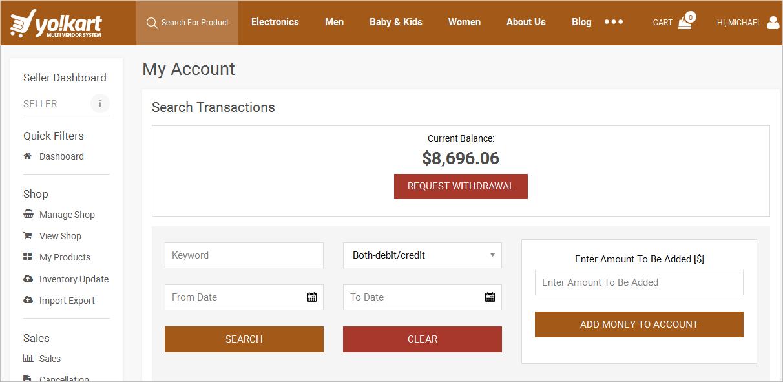 Ecommerce Buyer Wallet