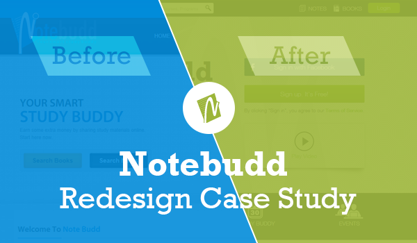 notebudd website redesign case study