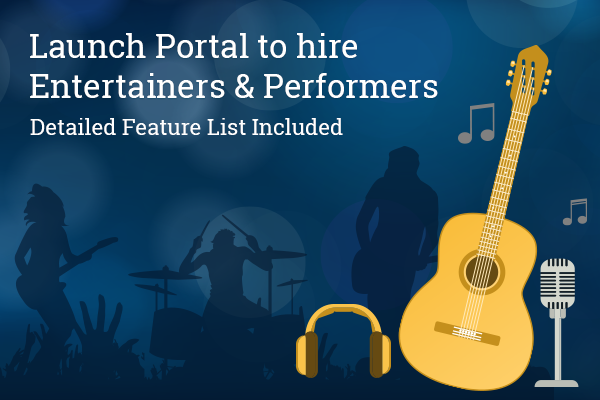 Online portal for hiring performers
