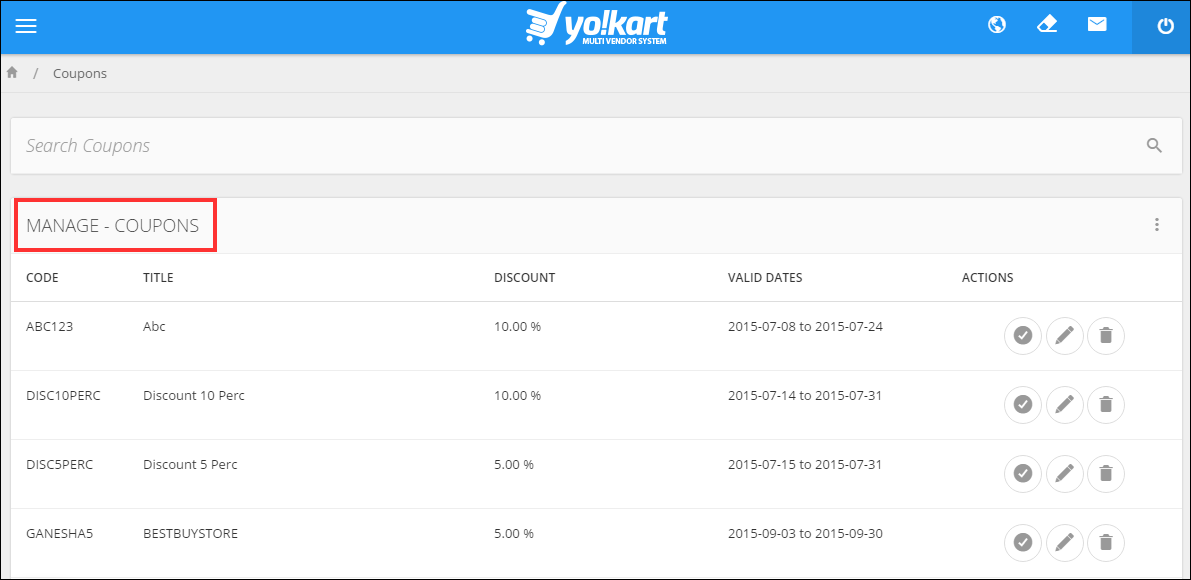 Yokart multi-vendor system coupon cancellations