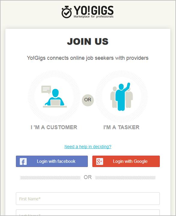 on-demand services marketplace registration