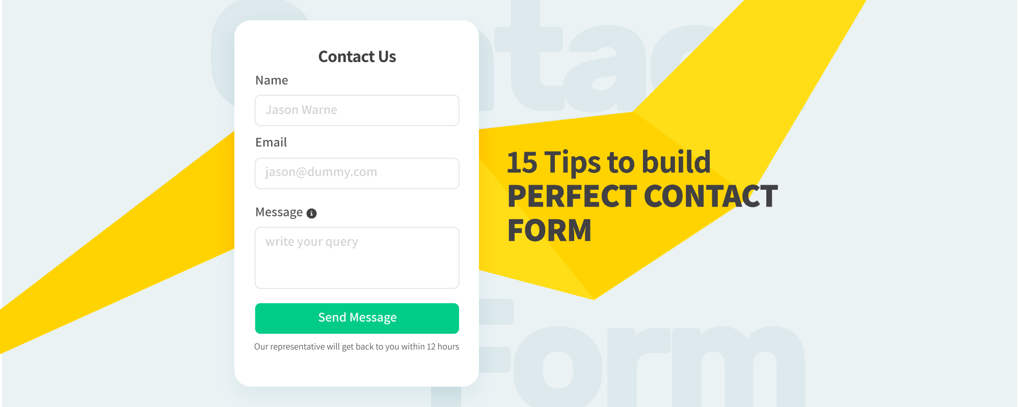 15 Tips to Design a Perfect Contact Form