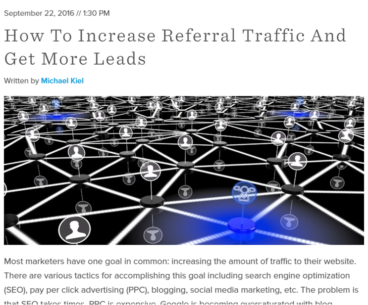 Increase Referral Traffic