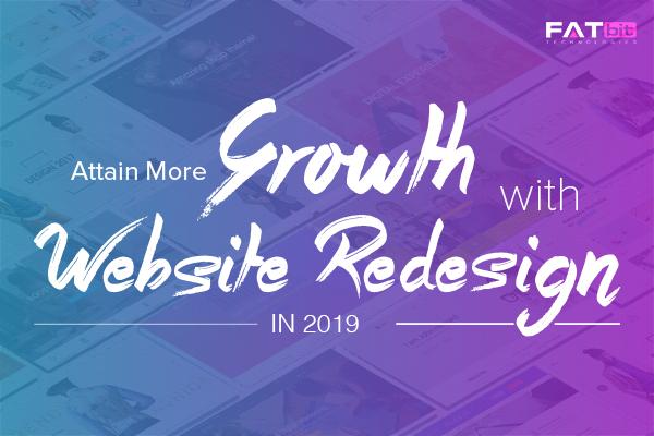 Website redesign in 2019