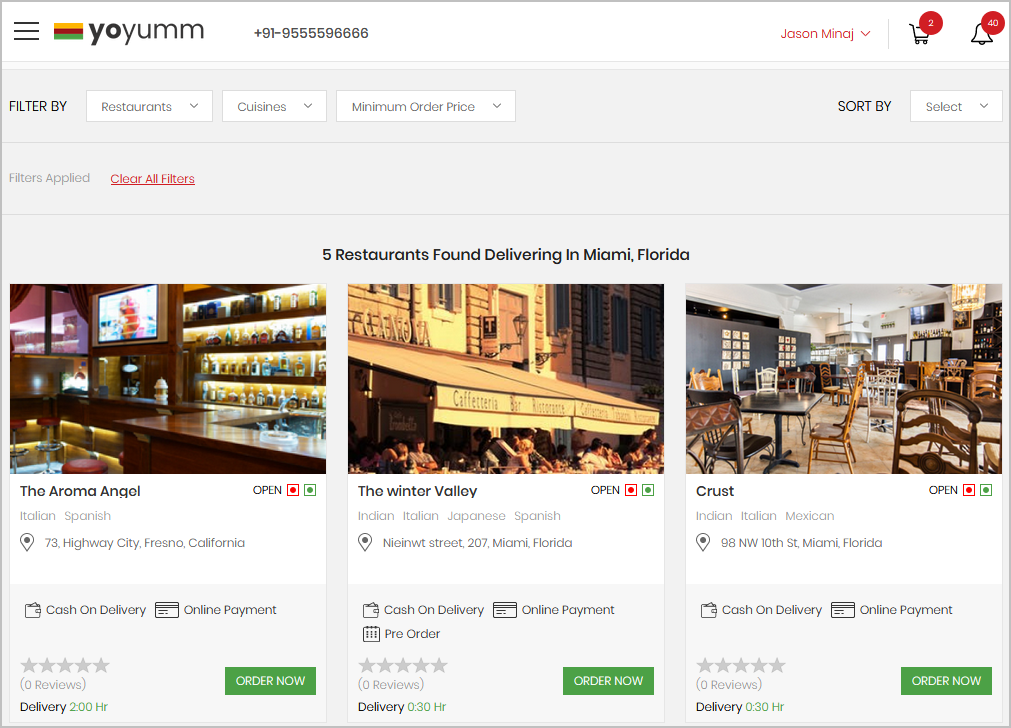 food ordering system restaurants