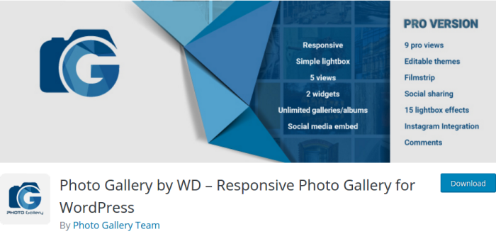 Photo Gallery by WD Plugin