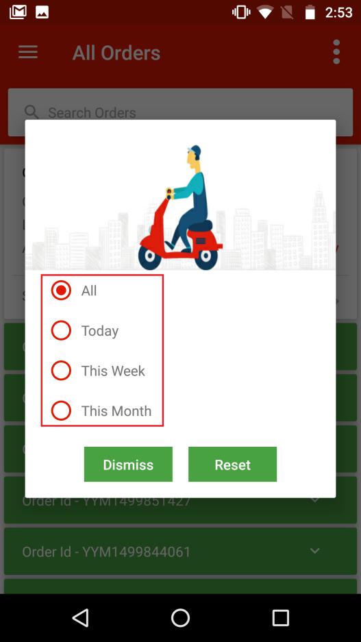 YoYumm App- Order Log