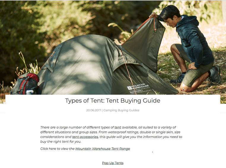 Guides- Tent