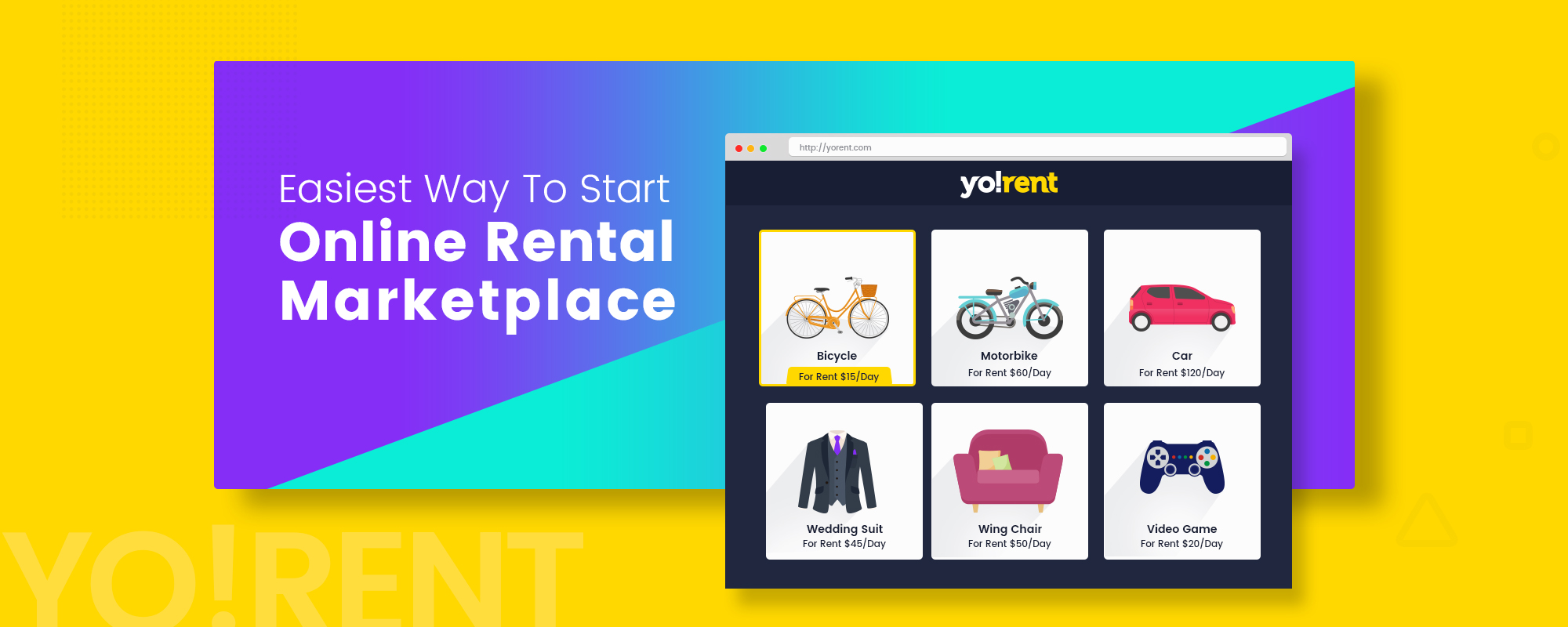 Build Product Renting & Selling Marketplace with Yo!Rent