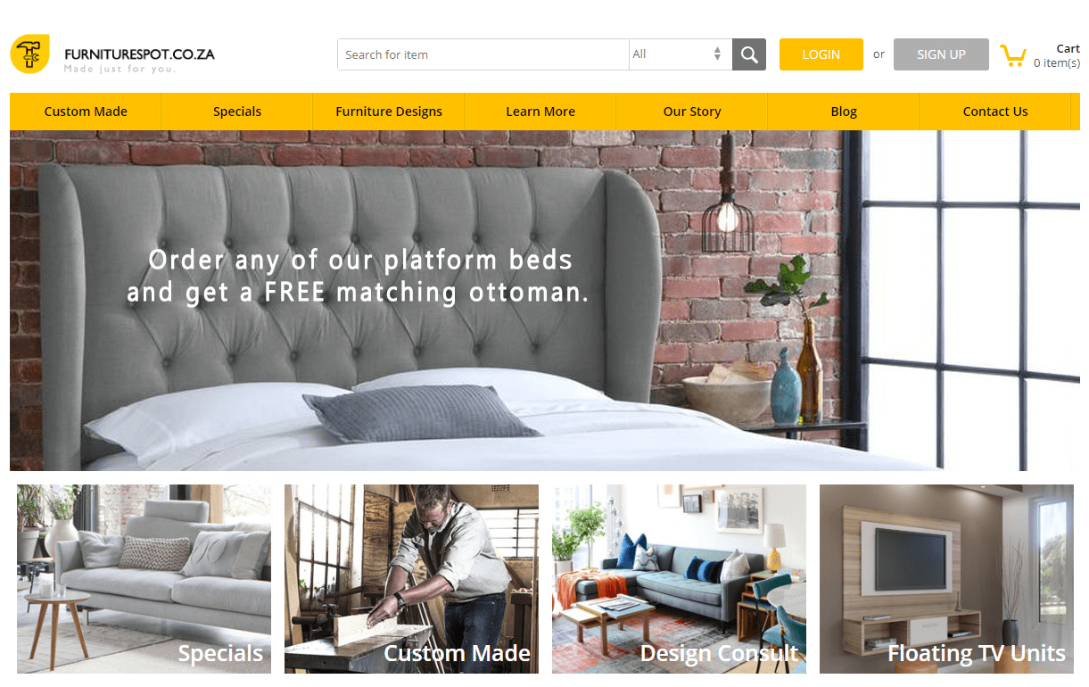 Online Furniture Store Development