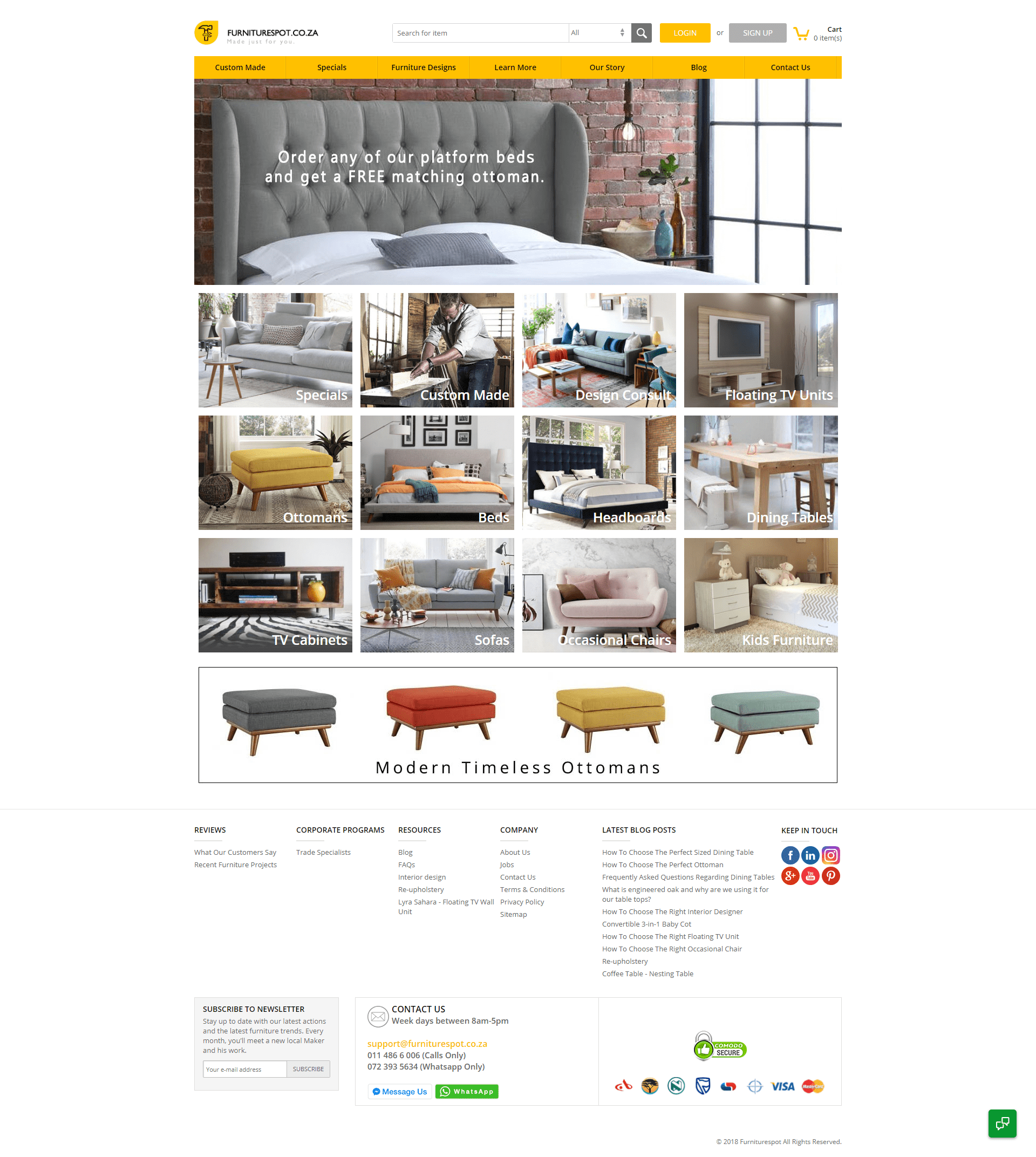 fabb sofas opens debut store and launches website interior website Furniture Spot is a custom-made furniture marketplace. This website aims to  provide talented furniture designers a place to showcase their talent.