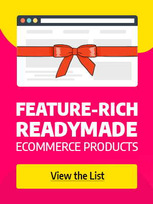 Readymade ecommerce products