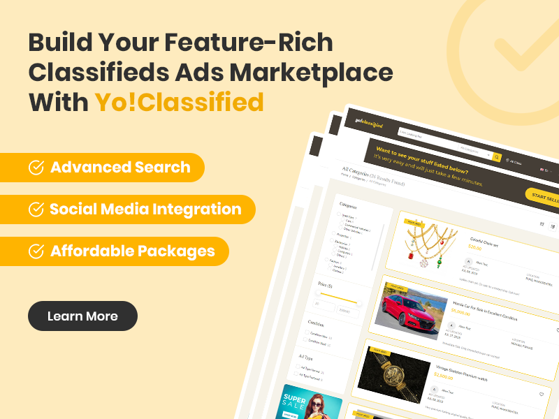 Build Your Feature-Rich Classifieds Ads Marketplace With YoClassified