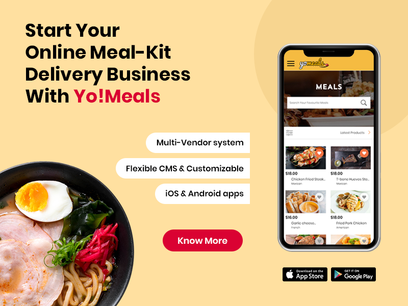 Start Your Online Meal-Kit Delivery Business With Yo!Meals