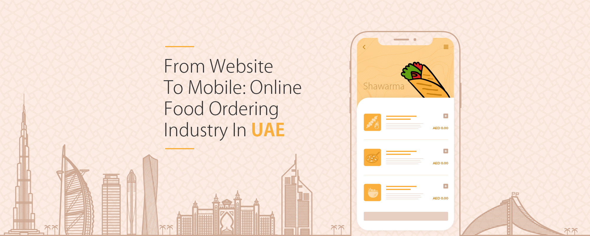 From Website to Mobile: How the Online Food Ordering and Delivery Industry Evolved in the UAE?