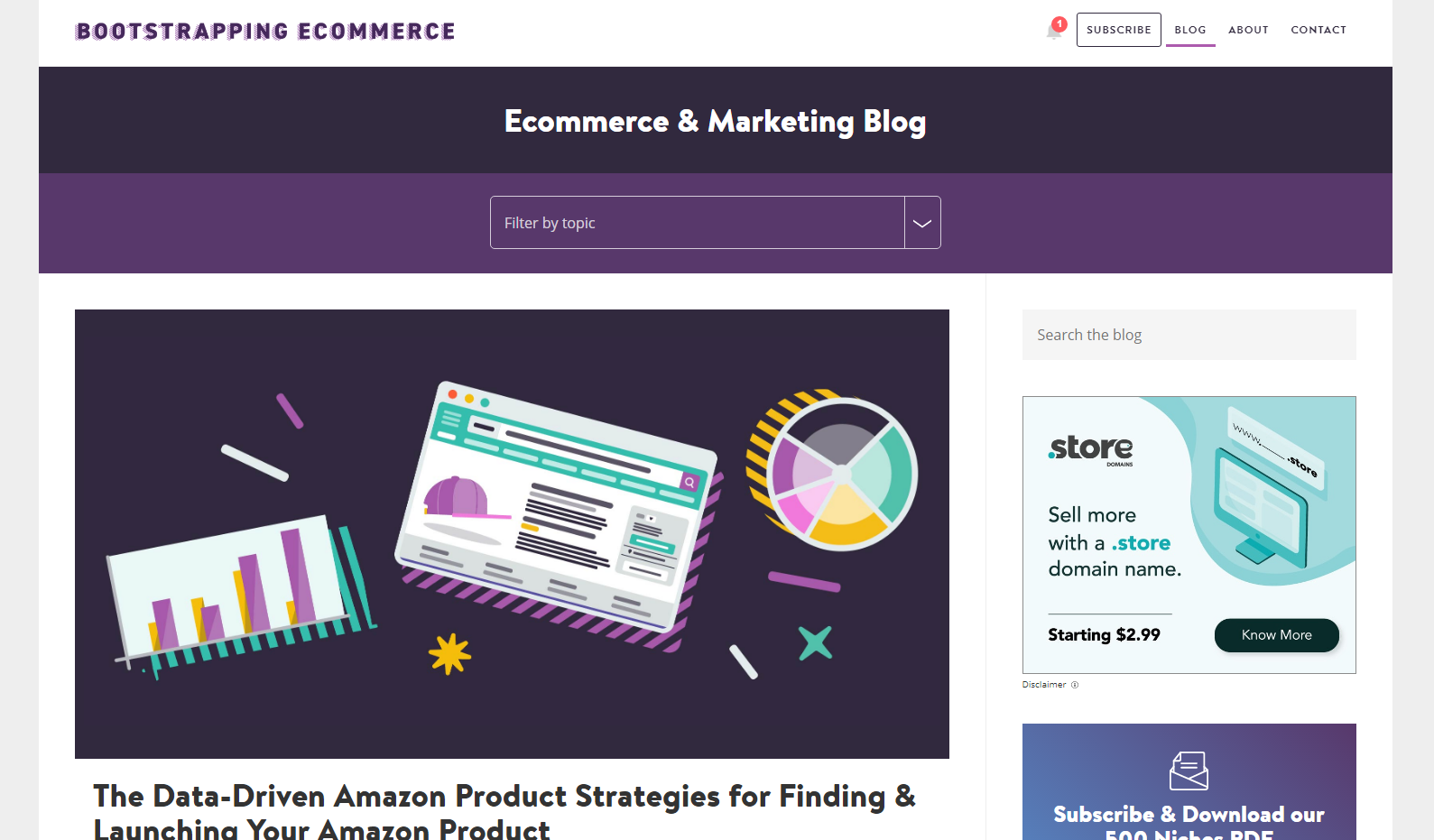 Bootstrapping eCommerce Blog