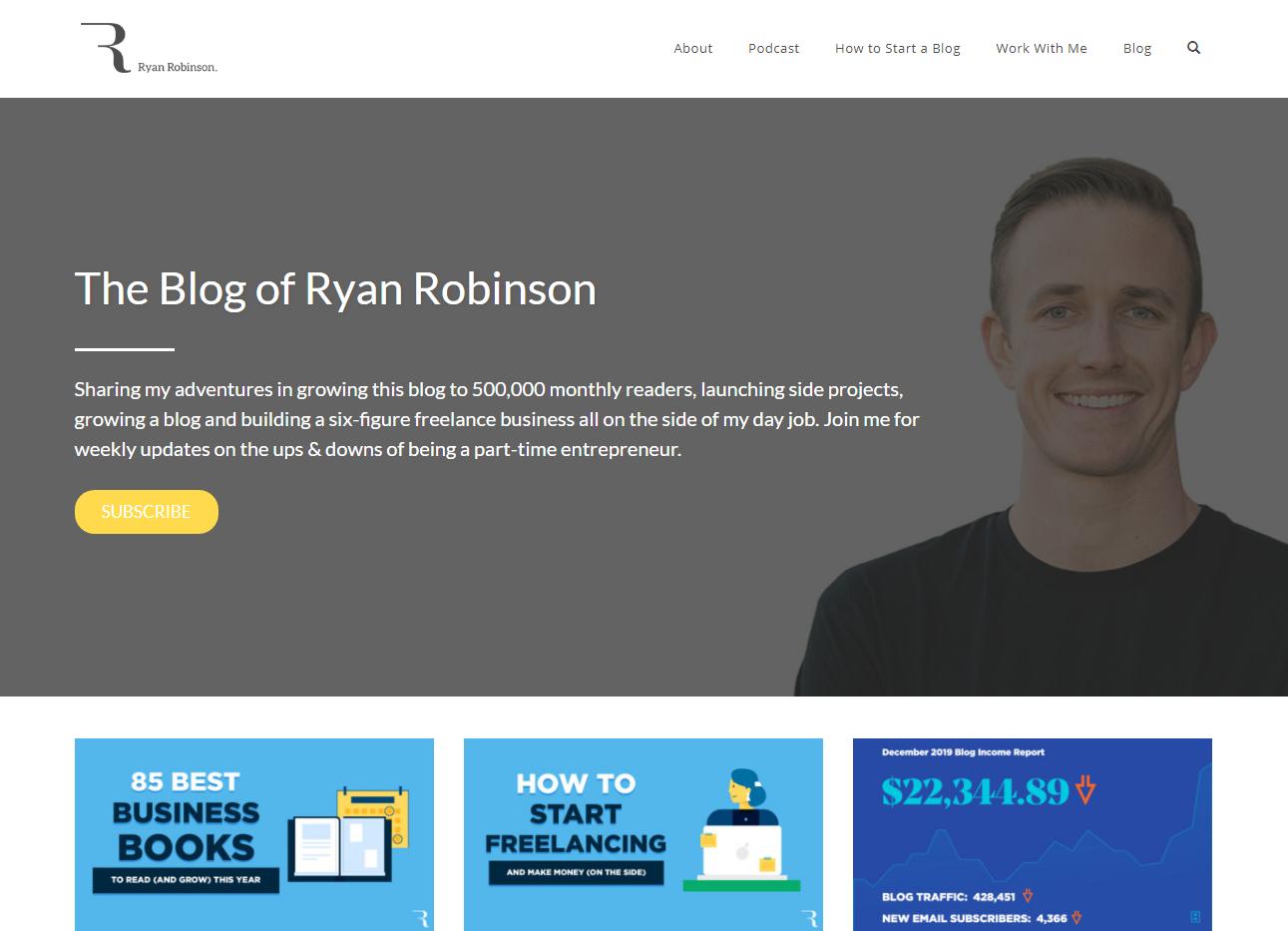 Ryan Robinson Blog