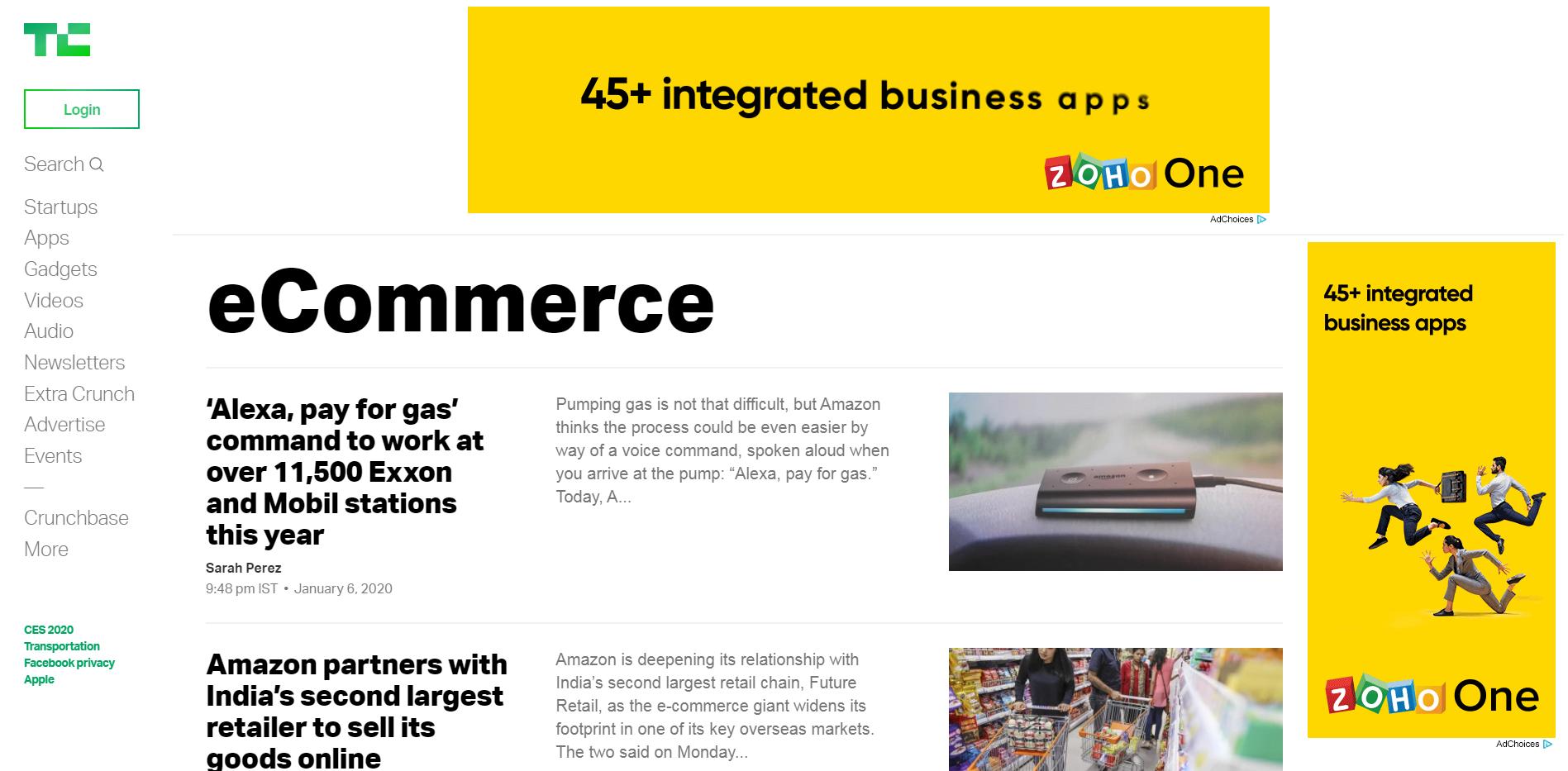 TechCrunch eCommerce Blog