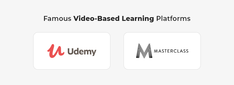 Famous Video-Based Learning platforms