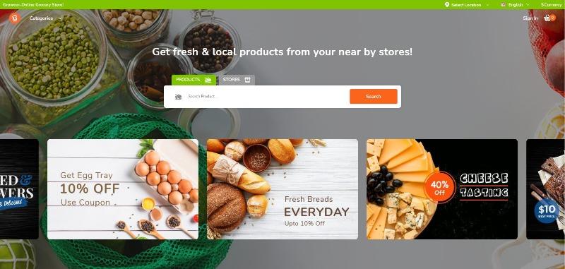 eCommerce system - Growcer