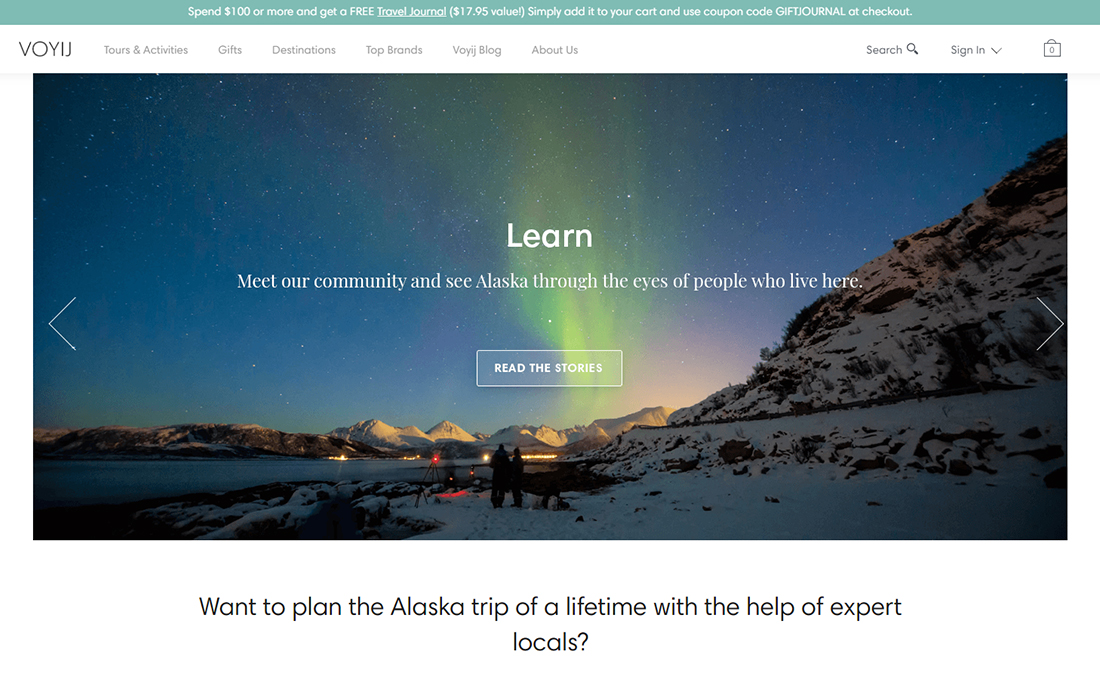 Alaskan Travel Activities & Shopping Website Powered by Yo!Kart